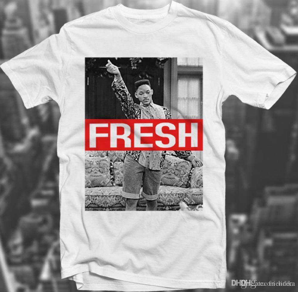 19f02587 Wholesale Fresh Prince Swagg 90'S Sk8r Hipster Will Smith Trill White  Polyester T Shirt Wholesale Summer Fashion Graphics Design Tees Cotton T  Shirts Fitted ...