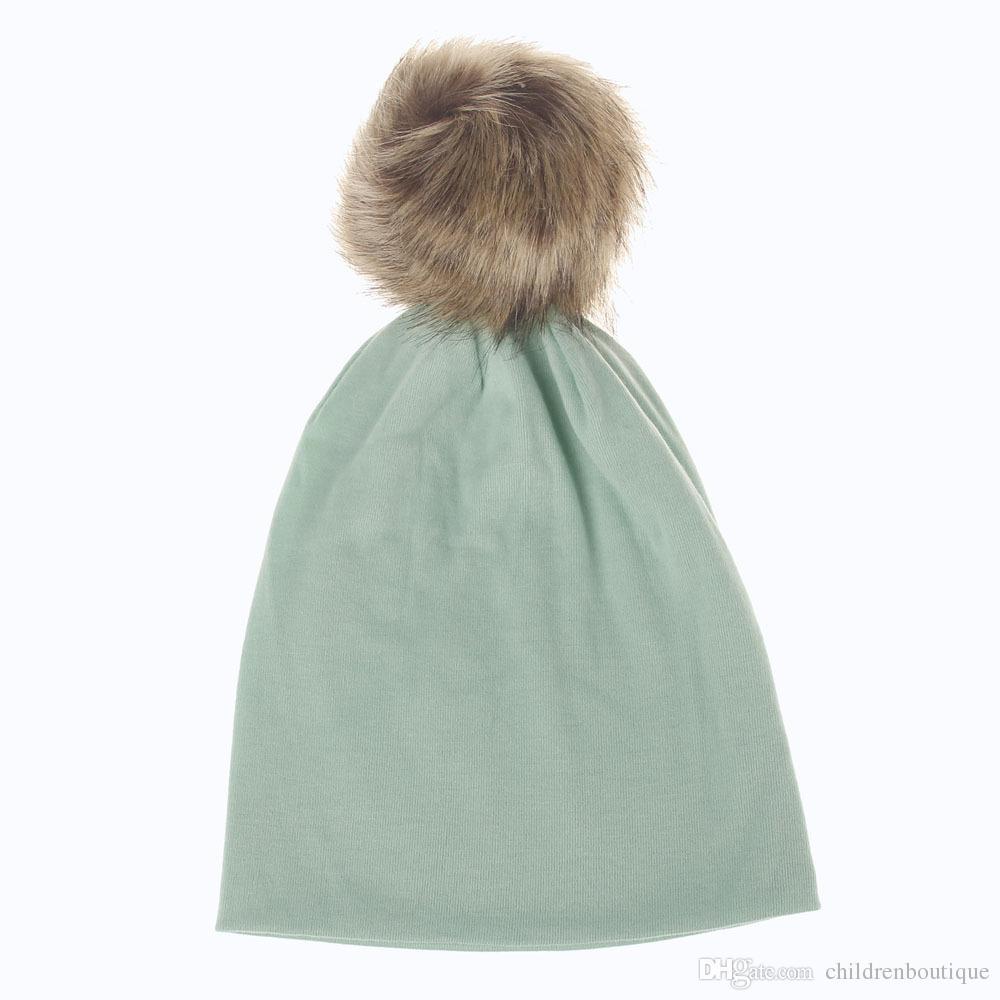 New Winter Hats for Baby Toddler Kids Boys Girls Hats Infant Cotton Soft Warm Beanies Pompom Fur Crochet Baby Boy Hats Children Accessories