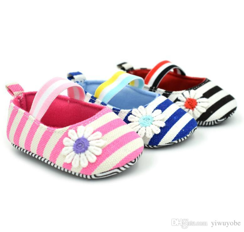 540738f84 2019 0 12months Baby Girl Cute First Walkers Summer Kids Striped Shoes For Infant  Girls Mix Wholesale From Yiwuyobe
