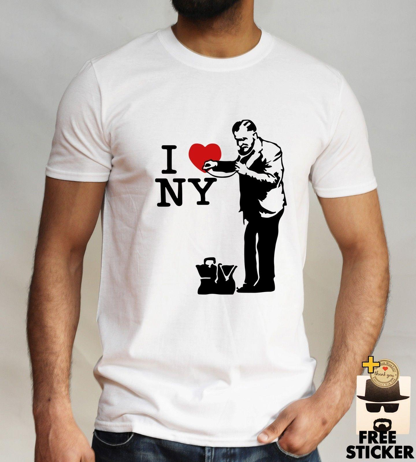 Banksy Grafitti Art T Shirt I Love New York Political Expression Retro Men  Women Funny Unisex Casual Tee Gift Moto Shirts Tee T Shirts From  Tee spirit ae00ca1dbd4