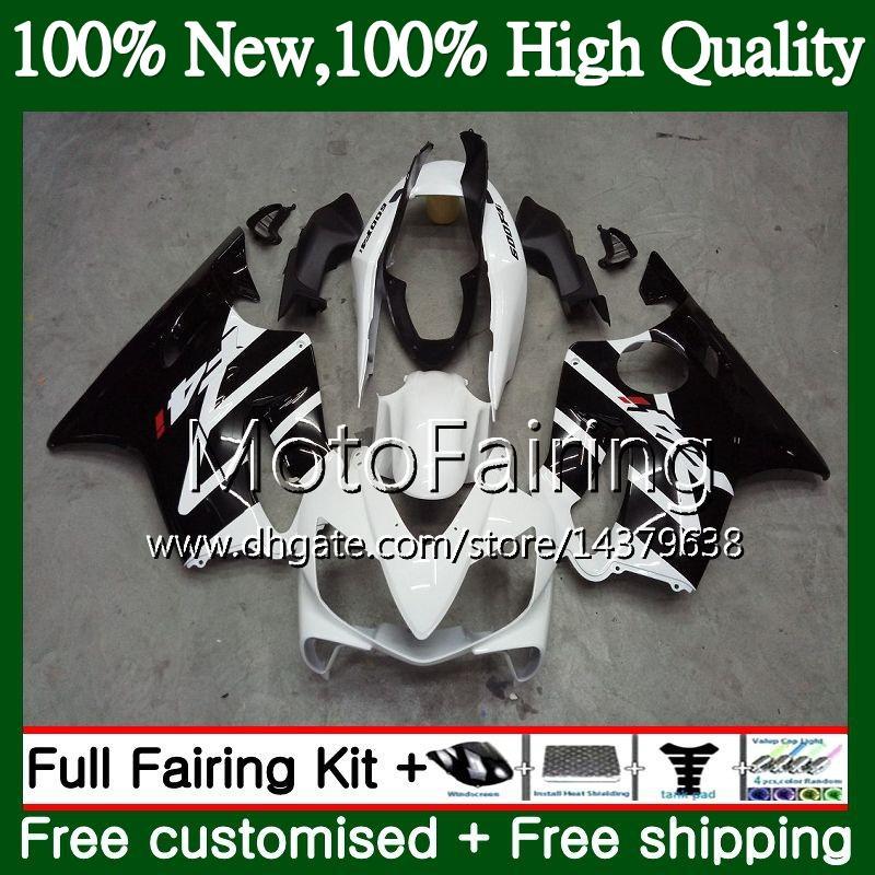 Body For HONDA CBR 600F4i CBR600 F4i 04 05 06 07 45MF21 CBR 600 F4i CBR600 FS CBR600F4i 2004 2005 2006 2007 Black white Fairing Bodywork