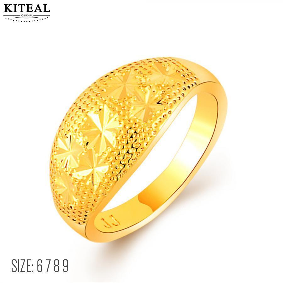 2019 Kiteal 2018 24k Gold Color Size 6 7 8 9 Female Wedding Rings