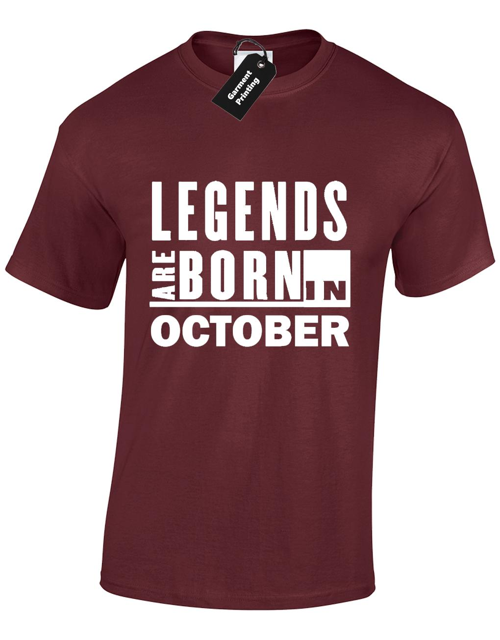 e65983b9 Details Zu LEGENDS ARE BORN IN OCTOBER MENS T SHIRT COOL FUNNY BIRTHDAY  GIFT PRESENT IDEA Funny Unisex Casual Gift T Shirt Shop Online Crazy T Shirt  From ...