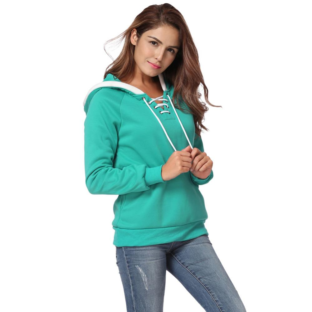 Fleece Truien Dames.2019 Women Casual Hoodies And Sweatshirts Fleece Raglan Long Sleeve
