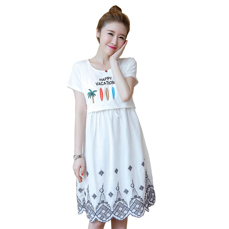 ea6ee601cdf 2019 Summer Fashion Maternity Nursing Dress Breastfeeding Clothes For Pregnant  Women Pregnancy Breast Feeding Casual Clothing From Mingway245, ...