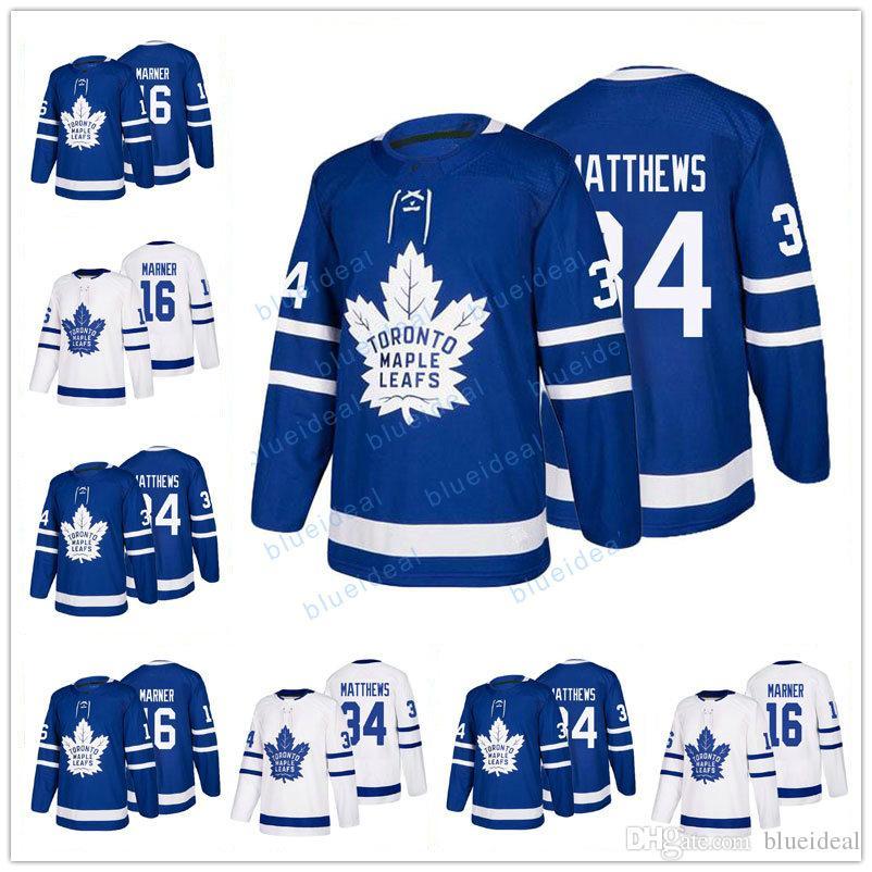 7933f0fff76 New Mens  16 Mitch Marner Jersey  34 Auston Matthews Jerseys 100 ...