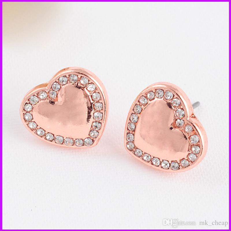 discount product mk m letter series earrings stud shaped studded heart