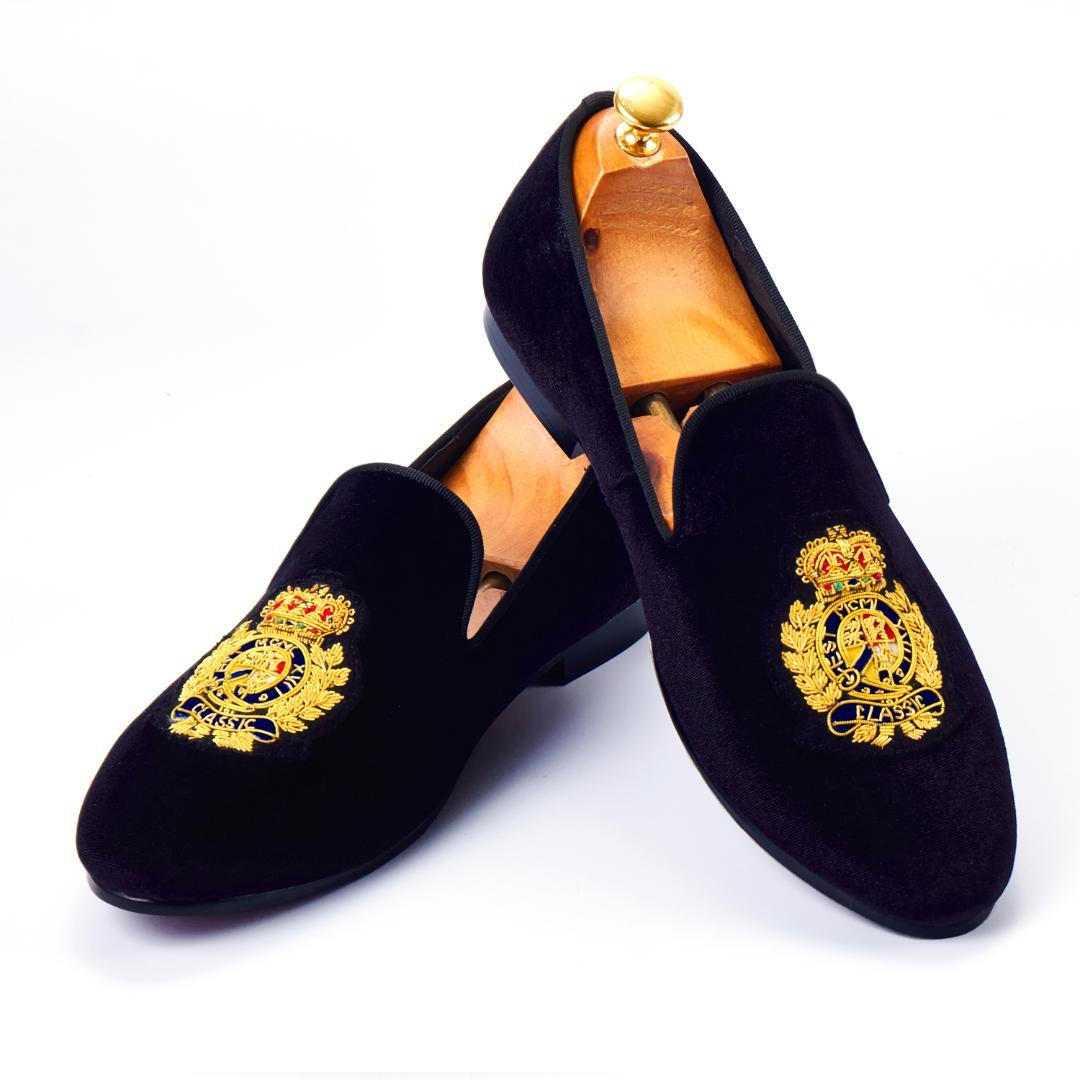 1ce3a0dd8b01 Harpelunde Men Dress Shoes Handmade Bullion Black Velvet Loafers Fashion  Smoking Slippers Size 6 14 Mens Trainers Walking Shoes From Mkfobia