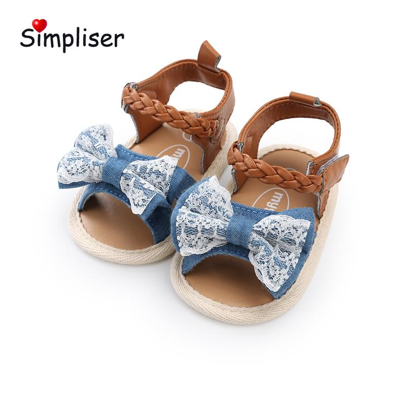 cc626e640c4a47 Summer Sandals For Newborn Baby Girls Bow Knot Cute Infant Toddler Shoes  Soft Sole Anti Slip First Walkers Outdoor Walking Shoes Children Shoes  Toddler ...