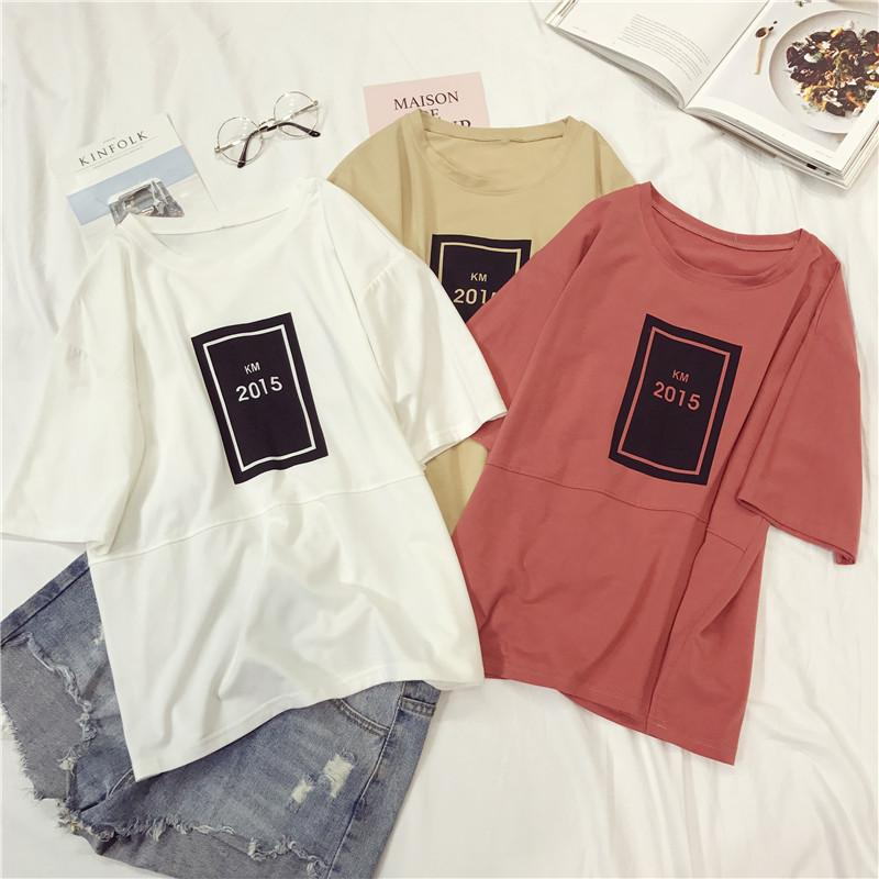 9095aec25fd2 TEAEGG Short Sleeve T Shirt Women Girl 2018 New Loose Pattern Joker Bts  Summer Simple Printing Number Clothing Jacket K814 T Shirts Cool Designs  Awesome T ...