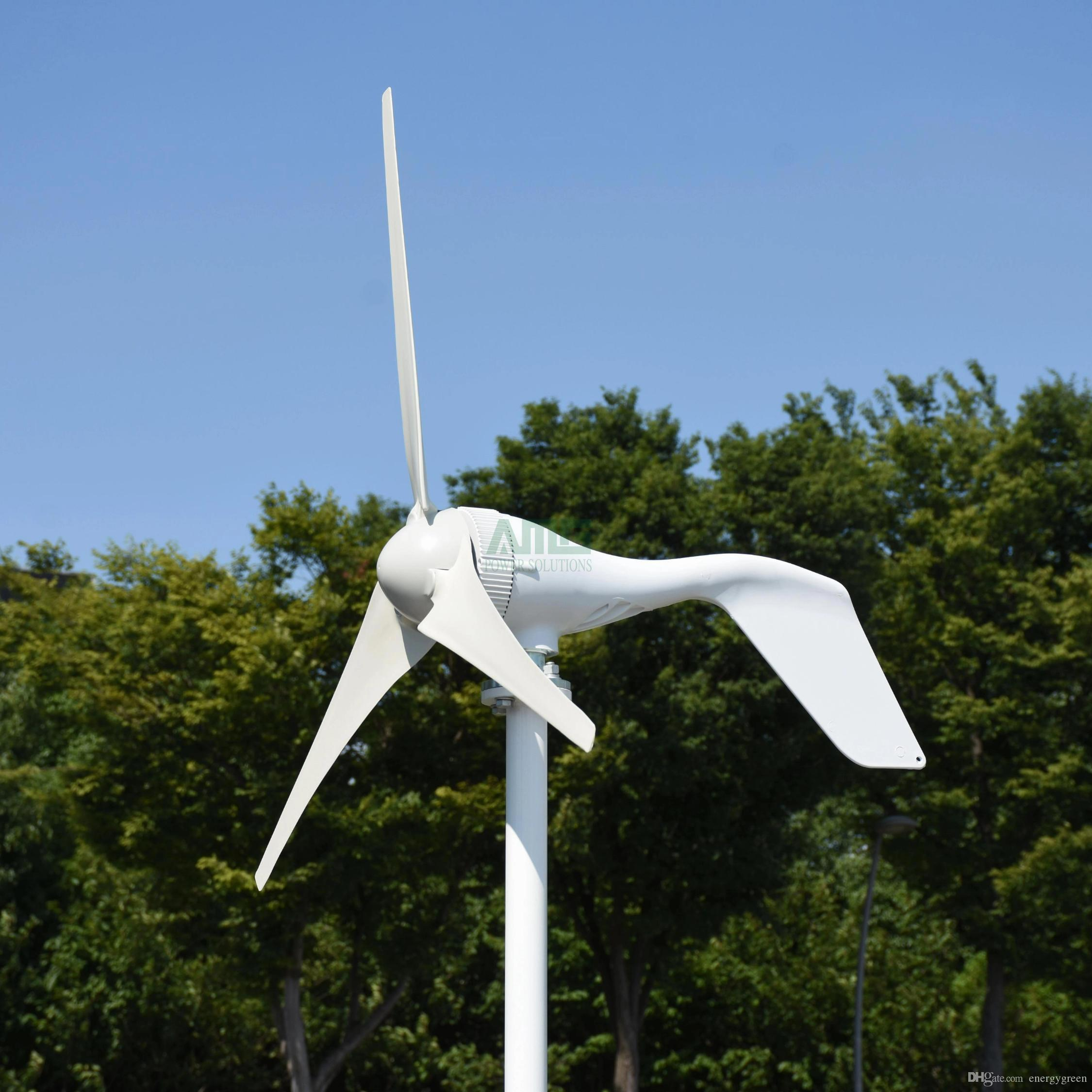 Upgraded 400w small wind turbine three or five blades optional with boost  controller,fit for home or camping