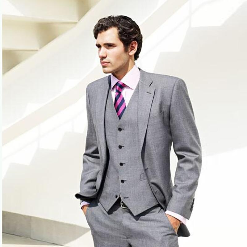 Compre Traje Gris Últimos Diseños De Pantalón De Abrigo Traje De Boda Para  Hombres Formal Blazer Para Hombre Atractivo Novio Esmoquin Slim Fit Trajes  Fiesta ... b265ed131a0