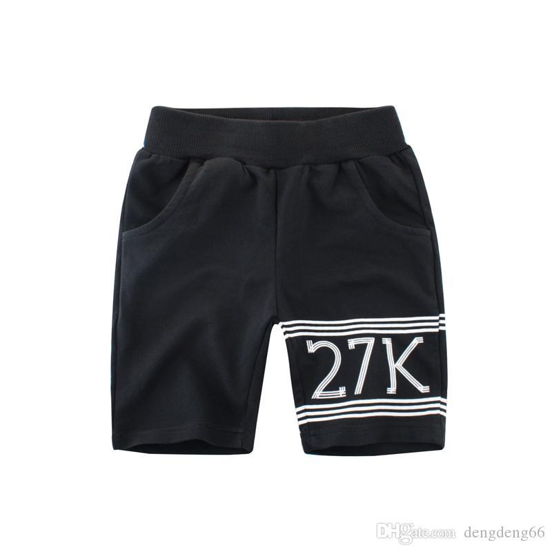 66d6fb719c50 Casual Kids Boys Short Mid Pants 100% Cotton Childrens Letter Print Shorts  Sports Summer Half Trousers Kids Mid Waist Knee Length Pants Toddler Boy  Red ...