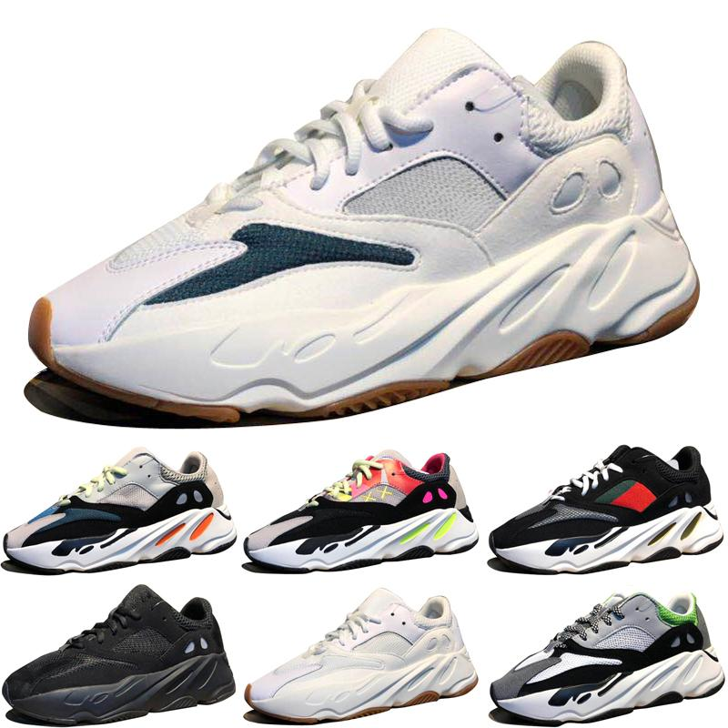989990ba30d87 2019 Kanye West Wave Runner 700 Boots Grey Running Shoes For Men 700s  Womens Mens Athletic Sports Sneakers Trainers Outdoor Designer Causal Shoes  From ...
