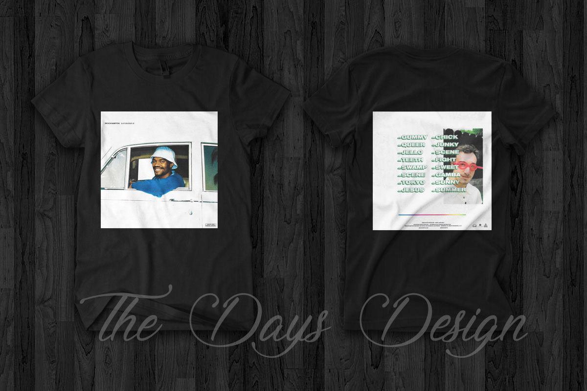 Brockhampton Saturation II Album Art T Shirt Authentic Logo Tour Merch  custom printed tshirt hip hop funny tee mens tee shirts