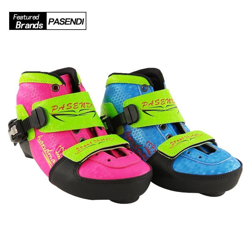 PASENDI Adjustable Skates Kids Roller Skate Shoes Child Inline Skating Boots  Pink Blue 4 Size Adjust For Children Skate Shoe UK 2019 From Wudun e38580d7b