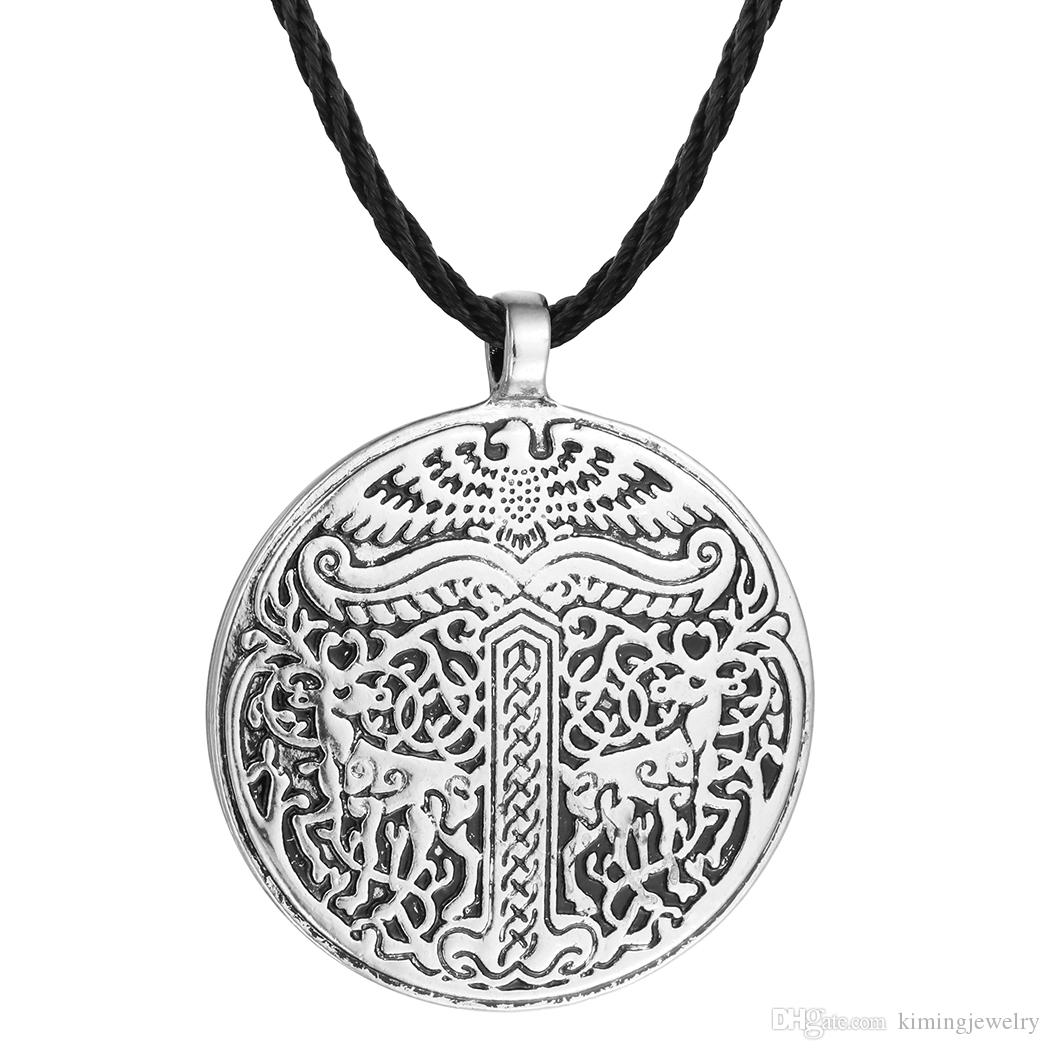 New Yggdrasil Tree of life World Tree Irminsul Viking Deer Pendant Necklaces Legend Ancient Chokers Fahsion Accessary
