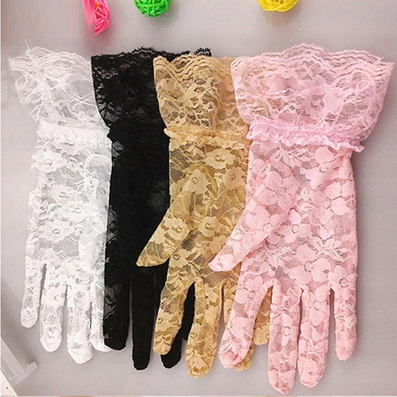 8213b4f8bb2d 2019 High Quality Lace Hollow Out Gloves Delicate Lace Jacquard ...