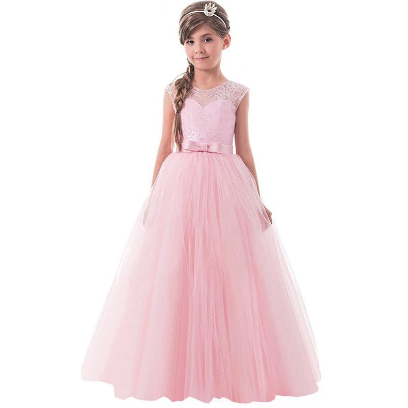 2019 lace princess dresses for girls clothes tulle children s