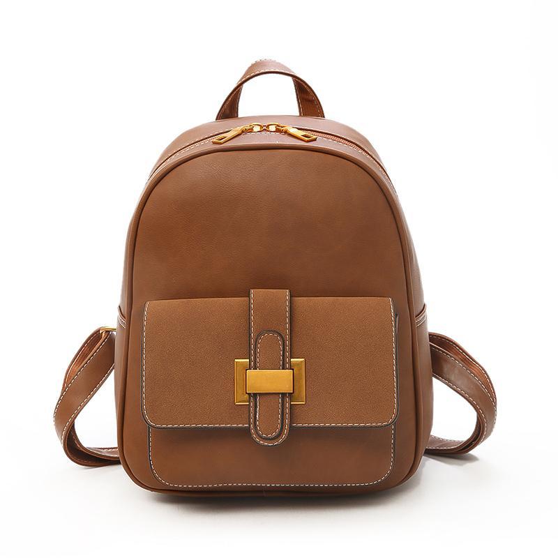 9130a9a048f5 Brand Women Backpack High Quality PU Leather Female Backpack Fashion Belts  Decoration Bookbag For Teenage Girls Daily Women Bag Backpack Brands  Rucksack ...