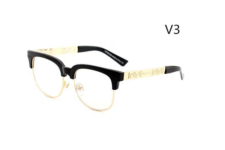 2018 Brand Designer Sunglasses Classic Vintage Sun glasses for Men Women Driving glasses UV400 Metal Frame Flash Mirror half frame Lens 2166