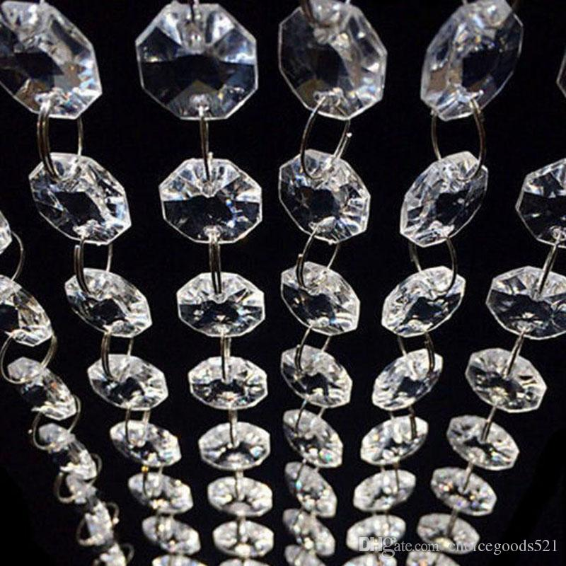 33 feet crystal clear acrylic beads chain acrylic crystal garland 33 feet crystal clear acrylic beads chain acrylic crystal garland hanging diamond chandelier wedding supplies party table decoration birthday party aloadofball Image collections