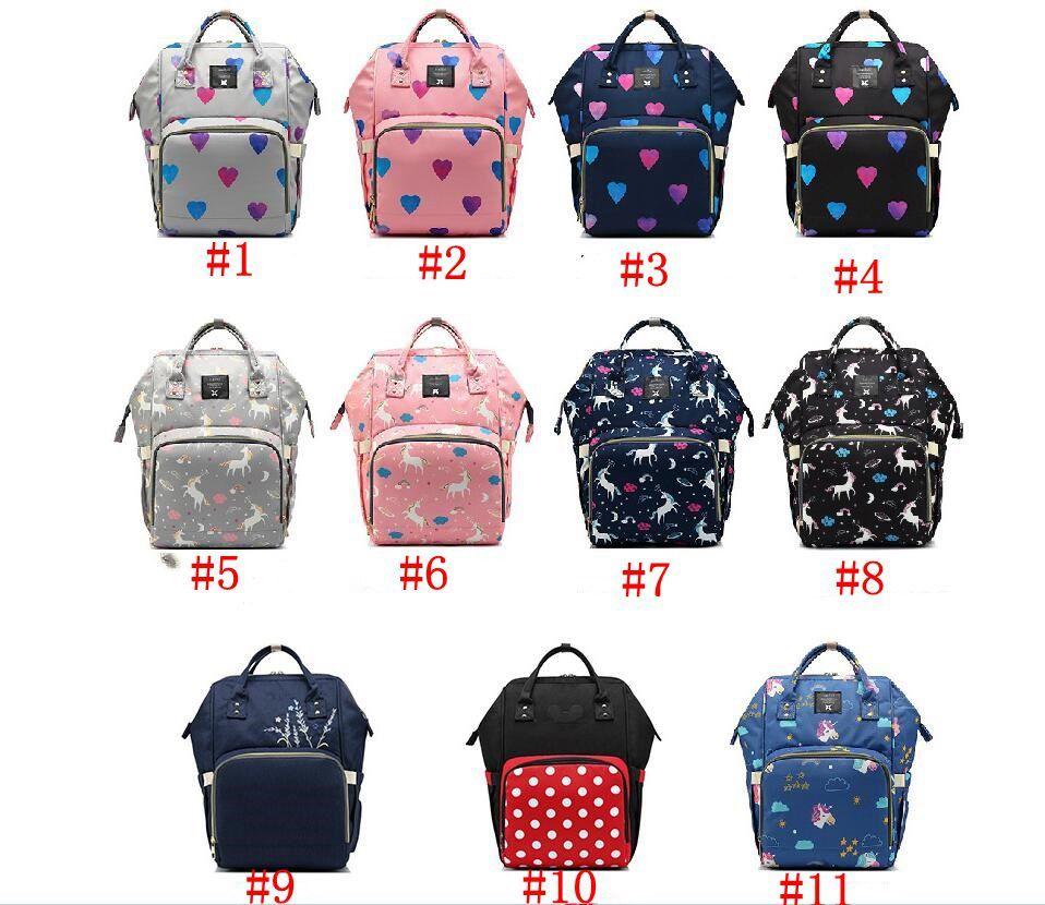Mommy Backpacks Unicorn Stars Nummny Nappies Bags Fashion Large Capacity Handbags Maternity Outdoor Travel Bag for baby DHL