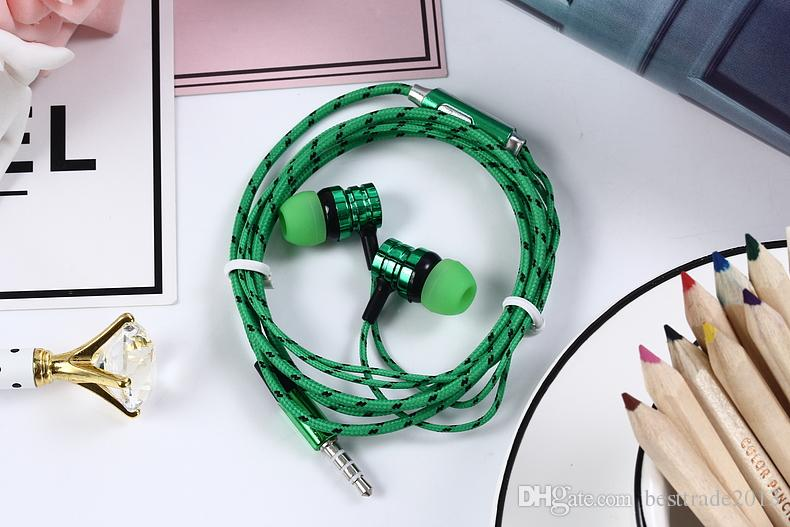 In-ear Earphone For Xiaomi phone Auriculares Fone De Ouvido Hifi headphone Braided Wire Earphones