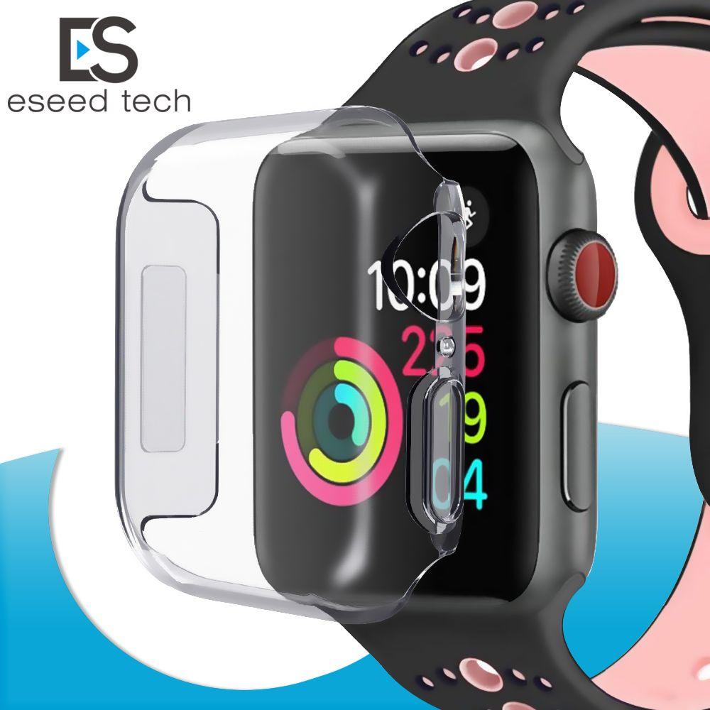 61df4e0ff79 Compre Para Iwatch 4 Case 40mm 44mm 3d Touch Ultra Claro Macio Tpu Capa  Bumper Apple Watch Series4 Protetor De Tela Para Apple Watch 4 Casos De  Eseed