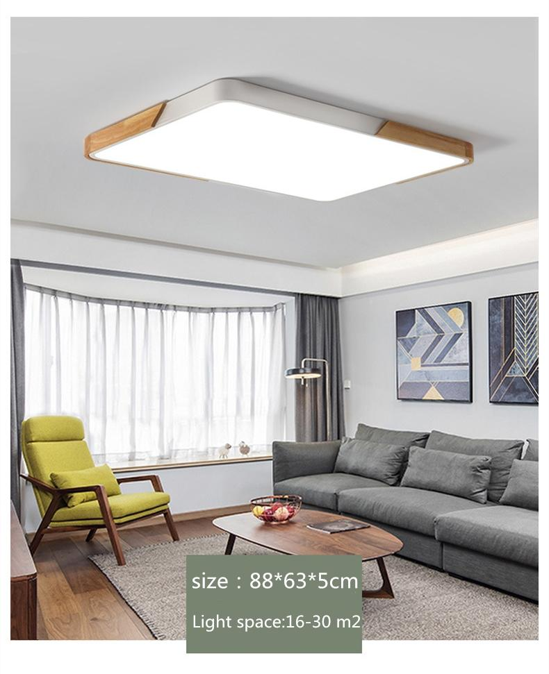 50*50*5 см прямоугольник гостиной твердой древесины творческий тонкий 5 см светодиодные потолочные светильники 220 В Северная Европа спальня свет