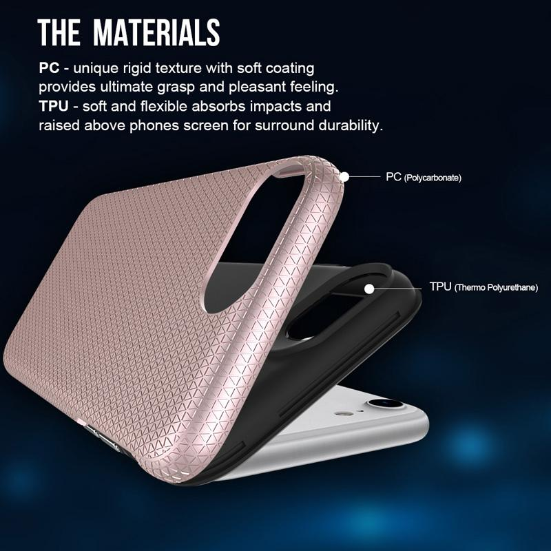 Triangle Shockproof Hybrid Armor TPU PC Case For iPhone XR XS Max X 8 7 6 Samsung S8 S9 S10 5G Plus S10e Note 9 J7 Max J5 Pro A3 A5 A7 2017