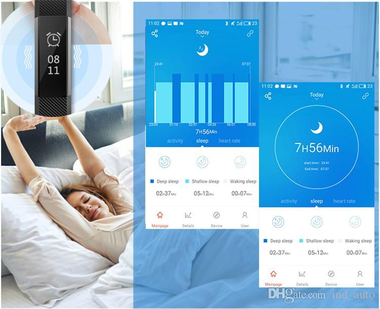 Akıllı Spor Bilezik Spor Aktivite Tracker Bileklik Kalp Hızı Monitörü IOS Ve Andriod Için Bluetooth 4.0 Fitbit Izle Bilezik