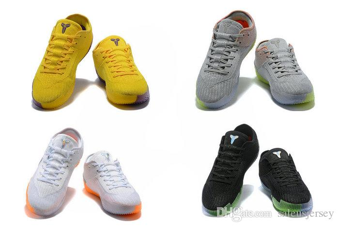 2018 New Kobe AD NXT 360 Multi Color Mamba Men Women Kids Basketball Shoes  High Quality Kb MAMBA DAY Sprots Sneakers Yellow Strike White Kids Water  Shoes ... 9143603b7
