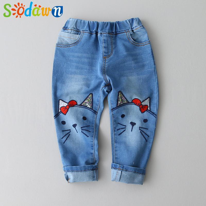 475992354 Sadown Brand Spring Autumn Denim Baby Girls Full Length Pants Cartoon  Pattern Washed Children Clothes High Quality 3 7T Khaki Pants For Boys Kids  Pants From ...