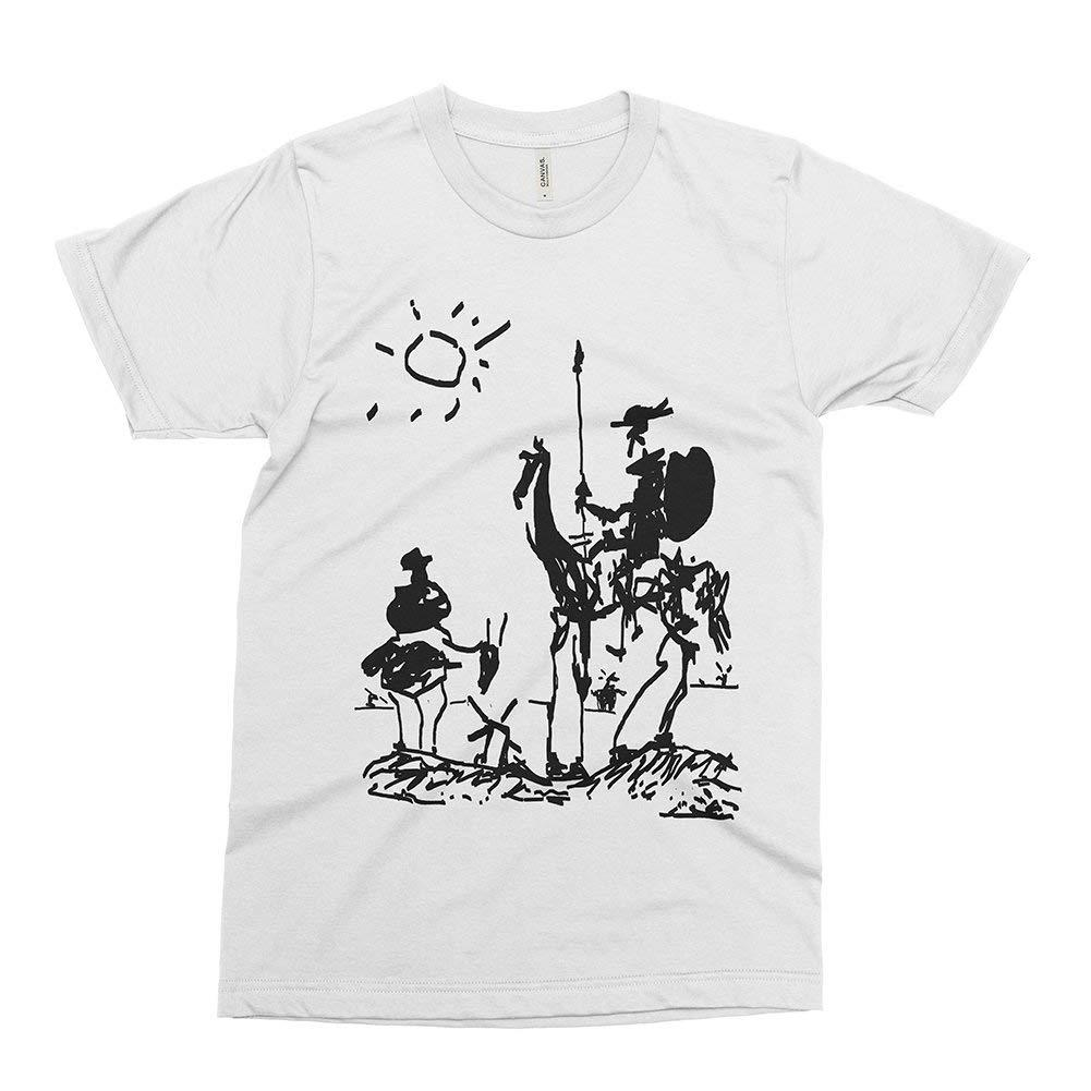 Großhandel Don Quixote Pablo Picasso Sketch Art T Shirt Männer ...