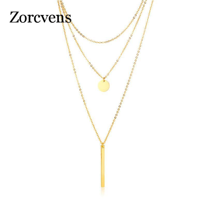 Großhandel Zorcvens Mehrschichtige Choker Halsketten Für Frauen Gold
