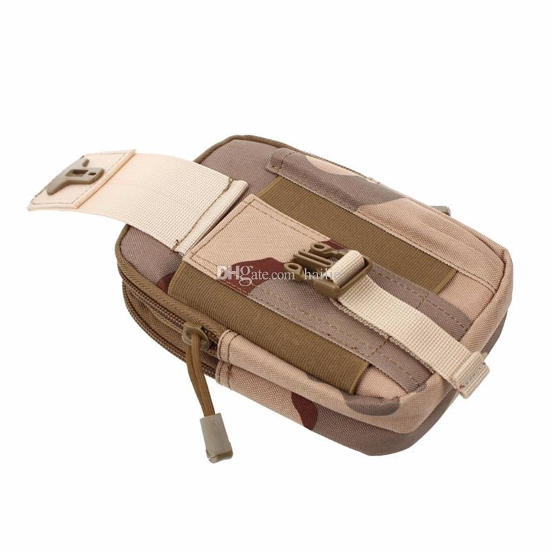 Bolso monedero Funda para teléfono Funda táctica para exteriores Molle militar Cinturón de cadera Cinturón con cremallera para iPhone / Samsung / LG / SONY