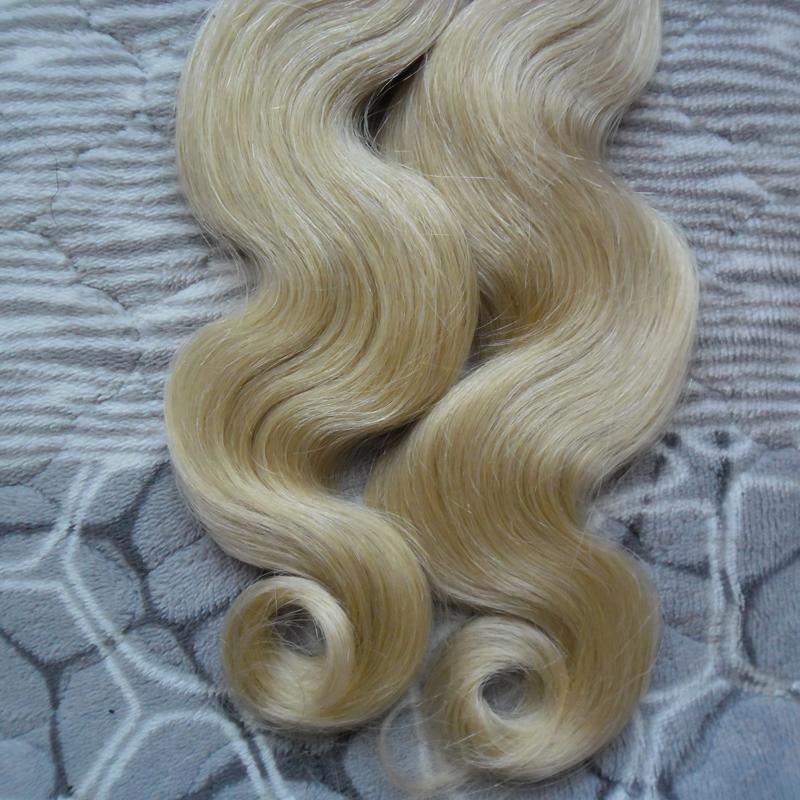 Блондинка бразильский волос волна тела кератин палку наконечник наращивание волос Remy человеческого ногтя U наконечник предварительно связали капсулы наращивание волос 100 г