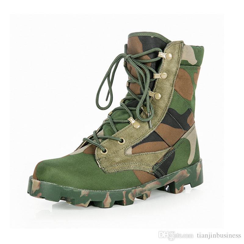 cheaper 9b1f8 100a6 Men Military Hunting Tactical Boots Camouflage Combat Outdoor Hiking Boots  Lacing Climbing Wear-resistant Shoes