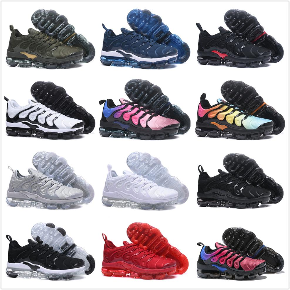 discount amazon 2018 NEW Vapormax TN Plus Men Designer Running Shoes For Male Shoe Olive White Silver Black Colorways Pack Triple Black Mens Women Sneakers sale the cheapest big sale outlet fast delivery cheap wide range of 4oYznaYeC