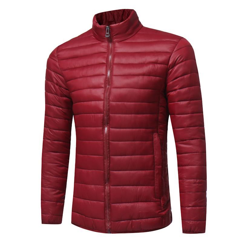 9641b0595aa3 2018 New Mens Light Coats Jackets Ultralight Cotton Padded Jackets Regular  Slim Fit Men S Casual Coat Outerwear S 3XL Jacket Mens Sale Jacket Blue  From ...
