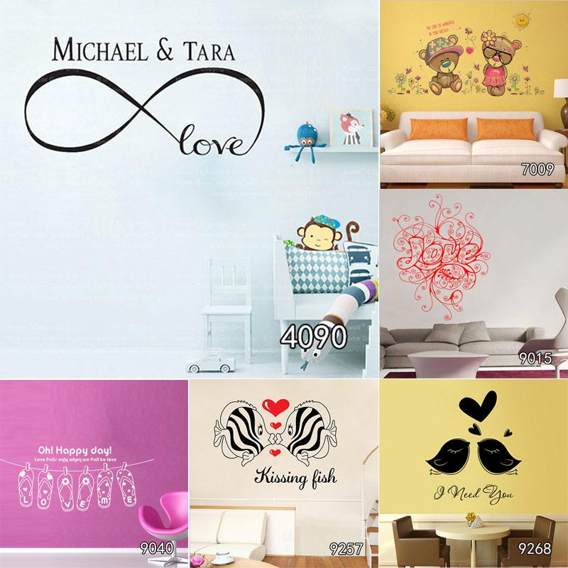 Home Decor Stickers Infinity Love Customized Wall Art Decal Home Adorable Infinity Love Quotes