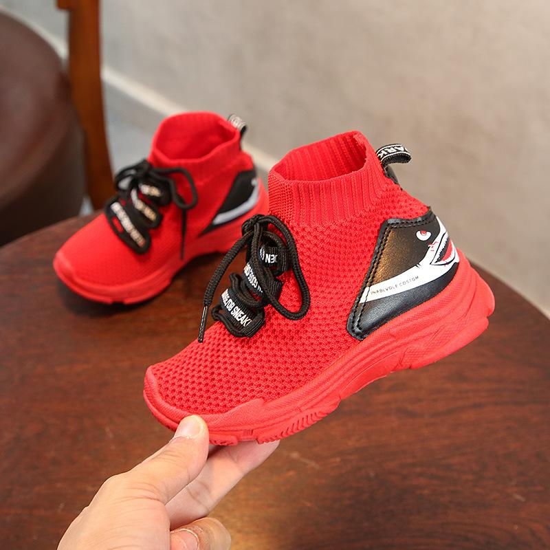 d53f6d231d2 2018 Children Shoes Girls Boys Shoes Kids Sneakers Lightweight Mesh  Breathable Socks Shoes Sneaker For Baby School Shoe Hot Shoes Kid Casual  Shoes Boys From ...