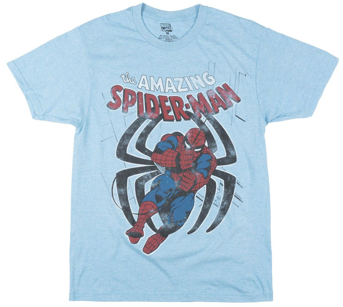 d58e84f2 Amazing Spider Man Comic Distressed Vintage T Shirt Men BlueFunny Unisex  Casual Gift Awesome Tee Different T Shirts From Justtheshirt, $12.96|  DHgate.Com