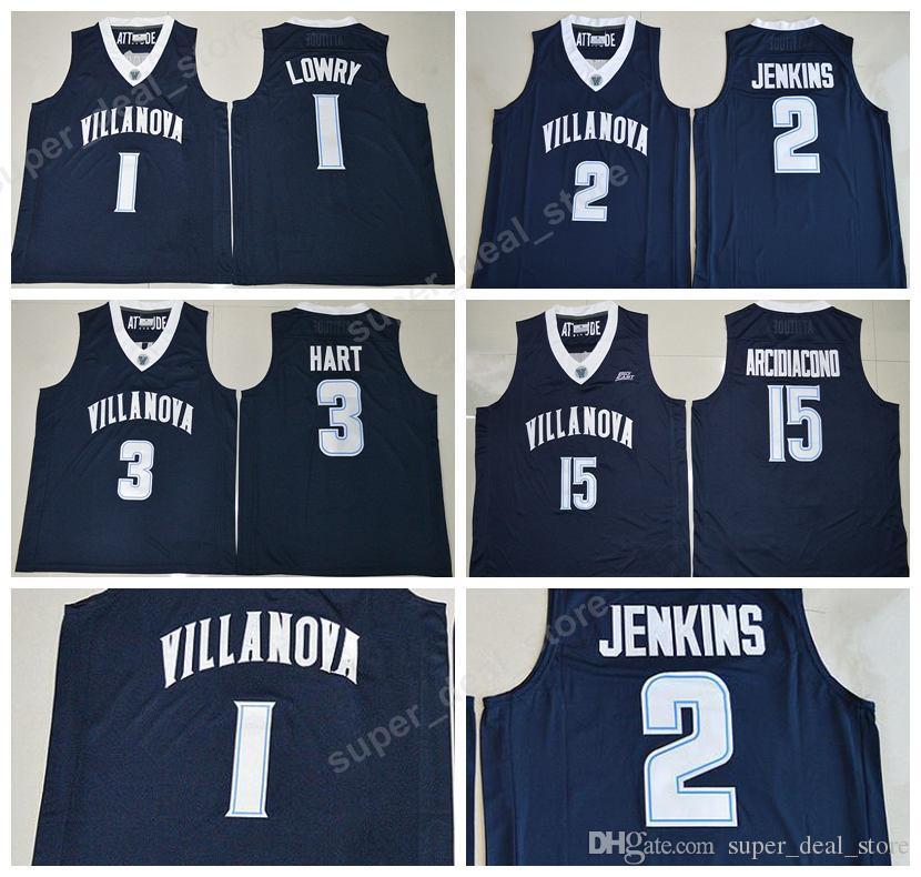 94aaf4cef8ea 2019 Villanova Wildcats Jersey College 1 Kyle Lowry 2 Kris Jenkins 3 Josh  Hart Basketball Jerseys Navy Blue Stitched Sport 15 Ryan Arcidiacono From  ...