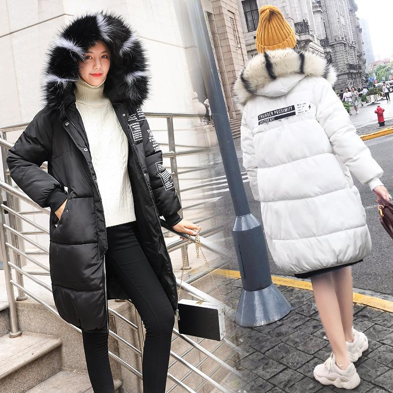 a04fbd042a3 2018 New Autumn And Winter Women s Loose Padded Down Jacket Hoodie ...