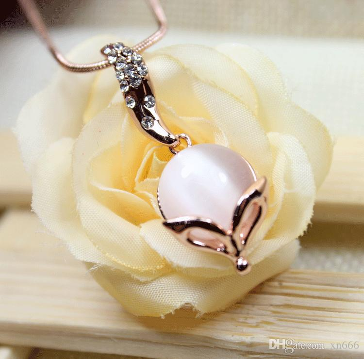 Fashion sweet cute little fox ornament Japanese and Korean accessories  female pendant short clavicle chain necklace