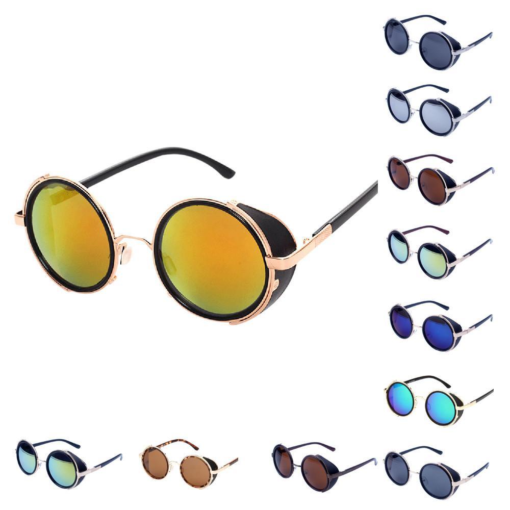 7ae601ac7e Compre Vintage Redondo Steampunk Gafas De Sol Para Mujeres Hombres Marca  Diseñador Steam Punk Gafas De Sol Redondas Mujeres Lentes De Sol Mujer A  $11.9 Del ...