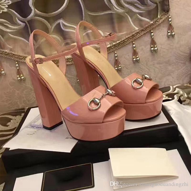 A19 2018Spring and summer new products big size 35~41 Fashion Genuine Leather OL pumps Lady High Heel Shoes Top Quality party shoes/ wedding
