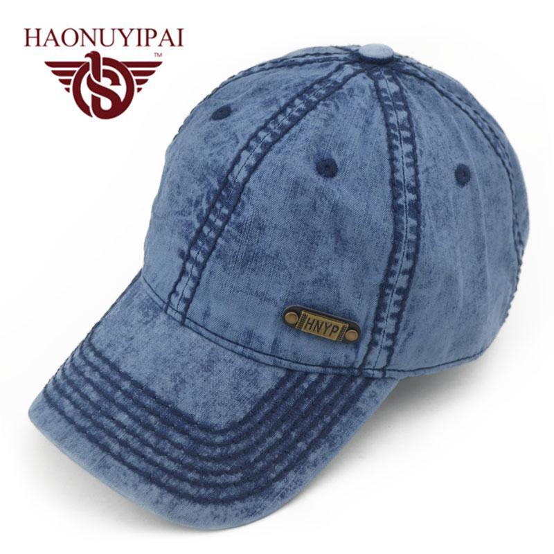 268a6e829a4 Wholesale- Hot Sale Mens Baseball Caps Brand Womens Jeans Denim Hats ...